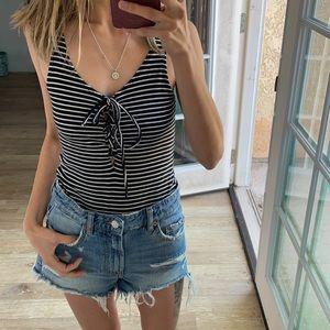 Top shop striped bodysuit
